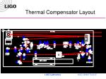 thermal compensator layout