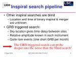 inspiral search pipeline