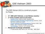 gse vietnam 2003