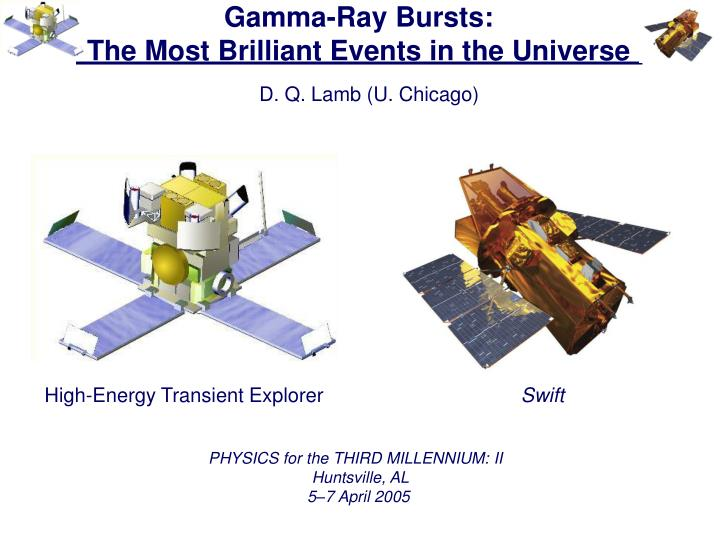 gamma ray bursts the most brilliant events in the universe n.