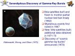 serendipitous discovery of gamma ray bursts