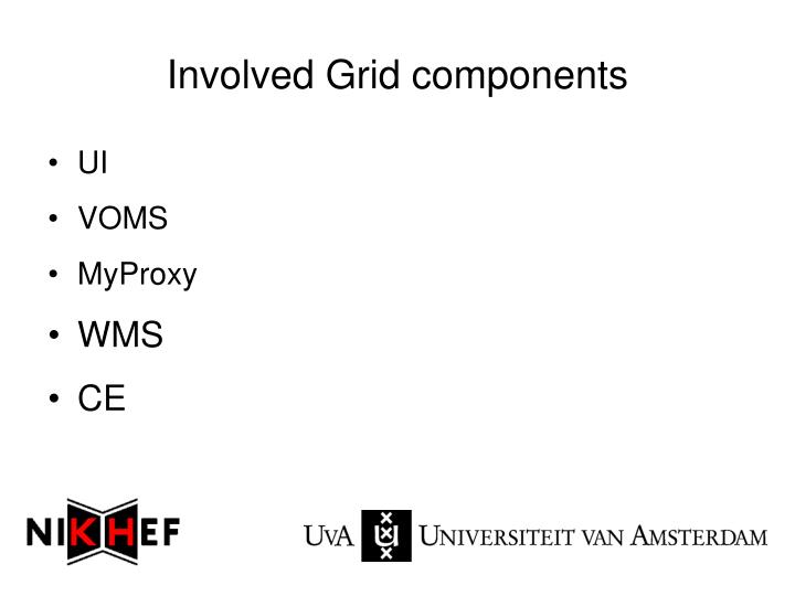 Involved Grid components