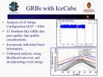 grbs with icecube