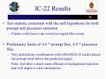 ic 22 results