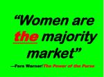 women are the majority market fara warner the power of the purse