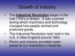 growth of industry