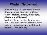 western settlement