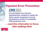 payment error prevention