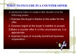 what to include in a counter offer