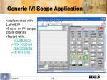generic ivi scope application