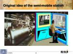 original idea of the semi mobile station