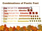combinations of poetic feet