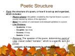 poetic structure
