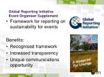 global reporting initiative event organiser supplement