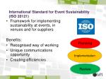 international standard for event sustainability iso 20121