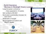 zurich insurance obvious in hindsight event lucerne
