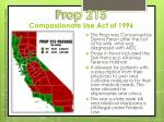 prop 215 compassionate use act of 1996