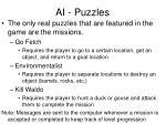 ai puzzles