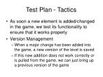 test plan tactics