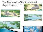 the five levels of environmental organization