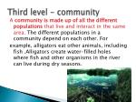 third level community