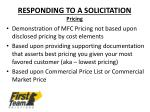 responding to a solicitation pricing1