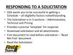 responding to a solicitation