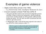 examples of game violence