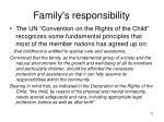 family s responsibility