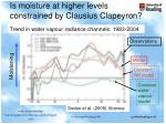 is moisture at higher levels constrained by clausius clapeyron