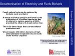decarbonisation of electricity and fuels biofuels