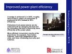 improved power plant efficiency
