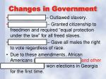 changes in government