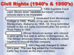 civil rights 1940 s 1950 s