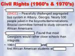 civil rights 1960 s 1970 s