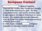 european contact