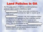 land policies in ga
