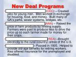 new deal programs