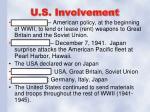u s involvement