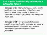 12 1 what is food security and why is it difficult to attain