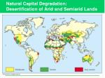 natural capital degradation desertification of arid and semiarid lands