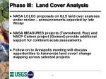 phase iii land cover analysis