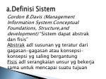 a definisi sistem