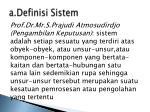 a definisi sistem3