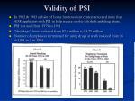 validity of psi