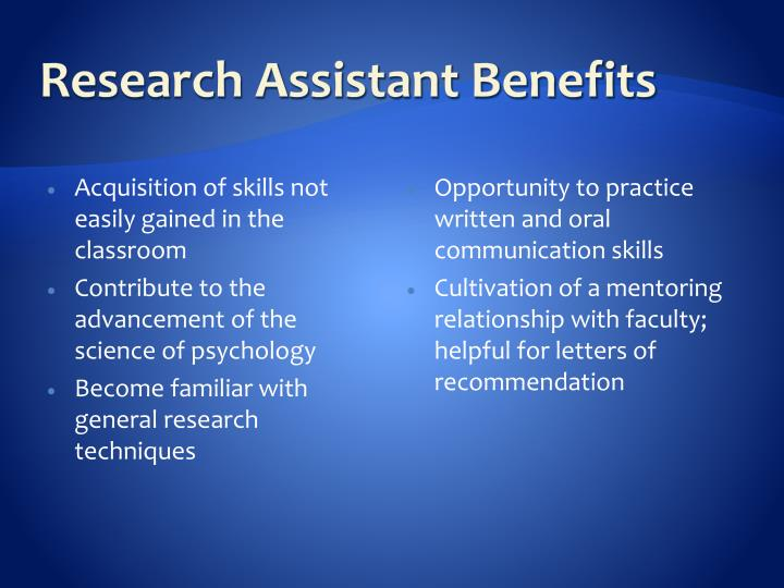 Acquisition of skills not easily gained in the classroom