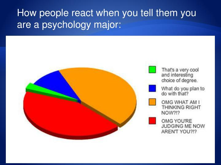 How people react when you tell them you are a psychology major: