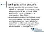 writing as social practice