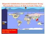 diagnostic initialization generated extremely strong thermohaline sources sinks in south china sea
