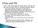 china and fdi